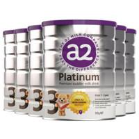 银联爆品日:a2 艾尔 白金版 婴儿配方奶粉 3段 900g*6罐