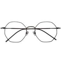 潮库 纯钛防蓝光发防辐射近视眼镜1898 + 1.61防蓝光镜片(0-800度)