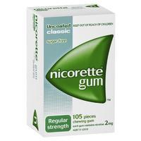 Nicorette 力克雷 2mg 经典口味戒烟口香糖 105粒