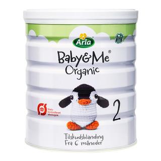 2罐装 丹麦原装进口 Arla() Baby&Me宝贝与我 有机婴幼儿配方奶粉 600g/罐 2段