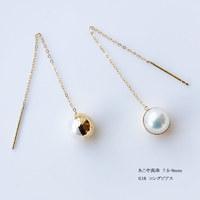PearlYuumi 優美珍珠 Akoya海水珍珠18K金半边球耳环7.5-8mm