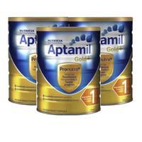 Aptamil 爱他美 金装 婴儿配方奶粉 1段 900g *3罐