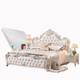 欧尔卡斯 法式双人实木床组合 (床+床头柜*1+床垫*1 1.8m)