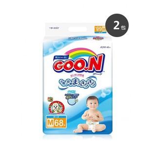 GOO.N大王 婴幼儿童纸尿裤尿不湿 M68片*2包