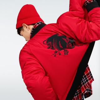 Gap 盖璞 000656249 男装 新年系列 两面穿保暖纯色棒球领棉衣
