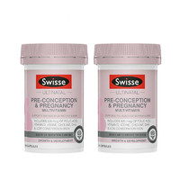 银联爆品日:Swisse UN Pre-Conception & Pregnancy 60 Caps 女士备孕 60粒 *2瓶