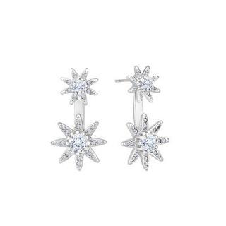 DIAMOND STYLE 星型 水晶耳钉