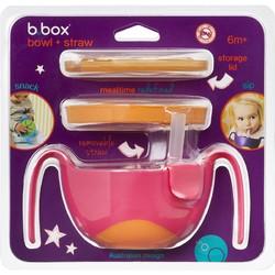 B.Box 三合一 吸管碗套装(橙+红色)