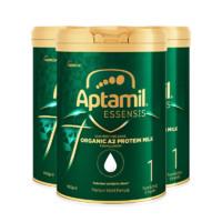 银联返现购:Aptamil爱他美 奇迹绿罐婴幼儿配方奶粉1段 900g *3罐