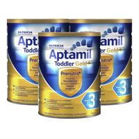 超值黑五:Aptamil 爱他美 金装婴幼儿奶粉 3段 900g*3罐