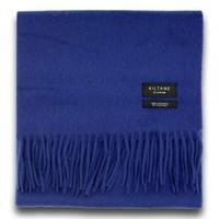 Kiltane 暗蓝纯色羊绒围巾 173*26cm