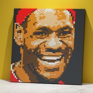 值友专享 : JEKCA 篮球明星系列墙画积木 詹姆斯