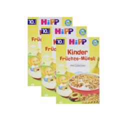 HiPP 喜宝 有机婴幼儿多种水果麦片 200g*3件