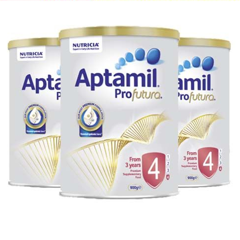 Aptamil 爱他美 Profutura 铂金版 婴儿奶粉 4段 900g 3罐