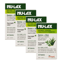 Nu-lax 天然果蔬乐康片添加益生菌 40片*4瓶