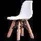 家逸 简约电脑椅伊姆斯休闲椅咖啡餐饮椅办公椅子(白色 默认)