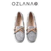 OZLANA UGG 女士丝绒马卡龙豆豆鞋