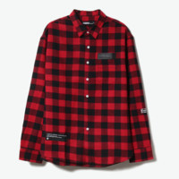 JASONWOOD  红黑格子长袖衬衫