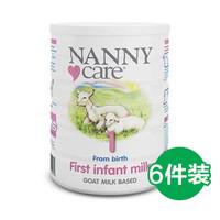 NANNY care 婴幼儿配方羊奶粉 1段 900g 6罐装