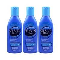 Selsun blue 滋润去屑去屑止痒洗发水(蓝色) 200ml *3件