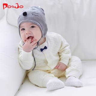 皮偌乔秋冬装婴儿衣服连体衣宝宝新生儿加厚保暖连脚哈衣爬服冬季