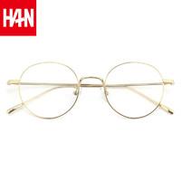 HAN纯钛圆框近视眼镜架+依视路钻晶A3系列1.60非球面镜片