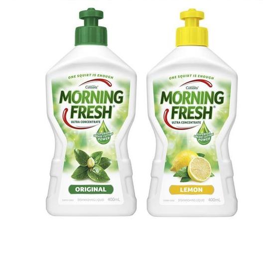 MORNING FRESH 浓缩洗洁精天然不伤手 超值组合装 (柠檬+原味)400ml*两瓶
