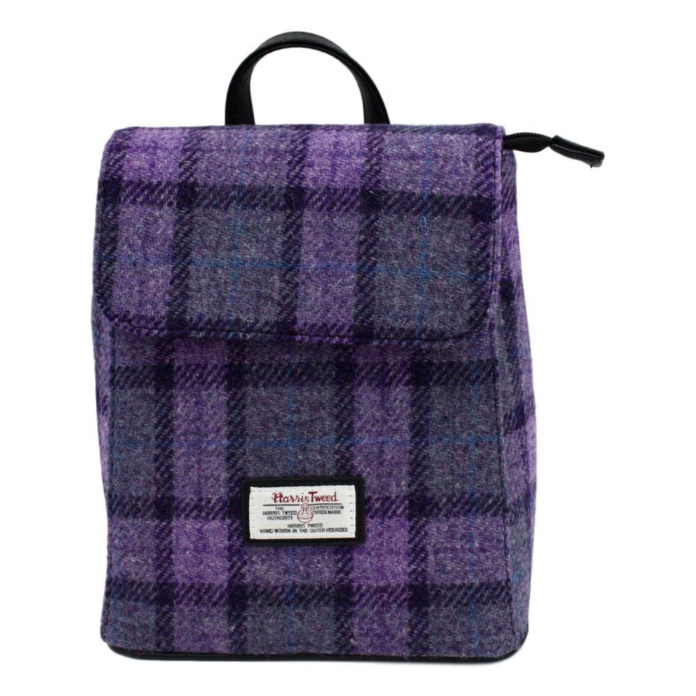 Harris Tweed 哈里斯 Tummel系列 紫色方块背包