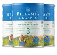 Bellamy's 贝拉米 有机婴幼儿配方奶粉 3段 900克*3罐