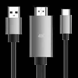 雷瑞科 4K手机连接电视投影仪同屏线 type-c转HDMI