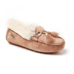 OZWEAR UGG 女士防水羊皮毛一体雪地靴流苏款豆豆鞋