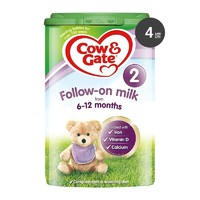 Cow&Gate英国牛栏 奶粉 2段 800g 4罐装