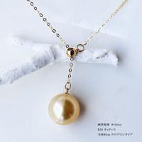 PearlYuumi 18K南洋金色珍珠项链 9-10mm