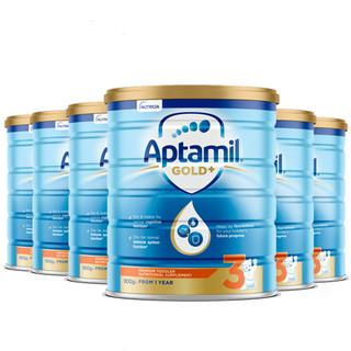 Aptamil 爱他美 新版金装奶粉 3段 900g *6罐