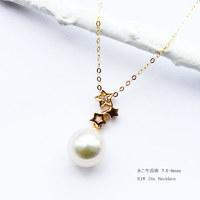 PearlYuumi 優美珍珠 Akoya珍珠K18三颗星钻石项链 D0.01ct 1pcs