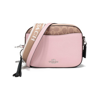 COACH 蔻驰 女士专柜款皮革相机包单肩斜挎包淡粉色多色 231 LHQ63