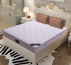 依丽兰 天然乳胶护脊床垫 独立袋装弹簧静音床垫 舒适透气抗干扰床垫  锦绣 150*200*24CM