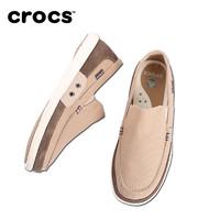 Crocs帆布鞋男鞋卡骆驰风尚沃尔卢平底轻便休闲鞋|14392