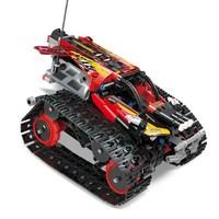 宇星模王 遥控APP 编程版电动积木 13036 履带赛车