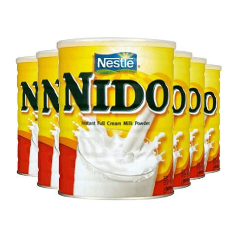 英国Nestle雀巢Nido全脂高钙成人奶粉学生中老年孕妇900g荷兰进口 6罐装