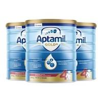 Aptamil 澳洲爱他美 金装 婴幼儿奶粉 4段 900g*3罐装