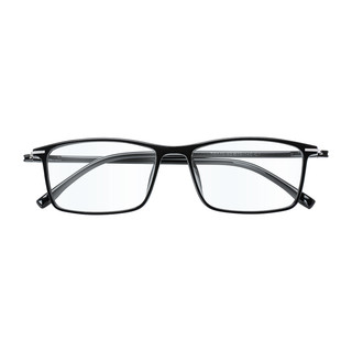 目匠 全框超轻时尚TR眼镜架 170 磨砂黑+送1.61防蓝光镜片(0-600度)
