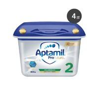 Aptamil德国爱他美 白金版 婴幼儿童2段奶粉 800g*4盒