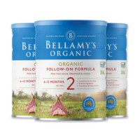 BELLAMY'S 贝拉米 有机婴儿奶粉 2段 6-12个月 *3罐