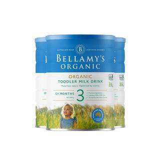 【澳洲直邮】【3罐装】澳大利亚贝拉米有机奶粉3段900g