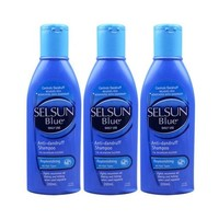 Selsun Blue 特效去屑止癢洗發水 藍蓋 200ml *3瓶